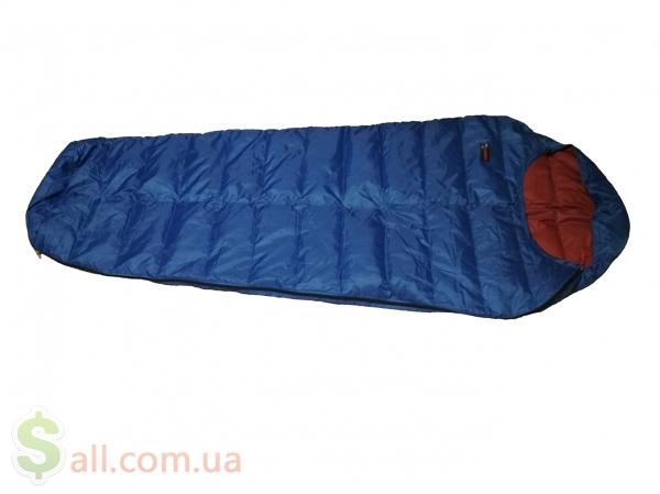 Фото Пуховый спальный мешок кокон облегчённый на рост до 180 см.