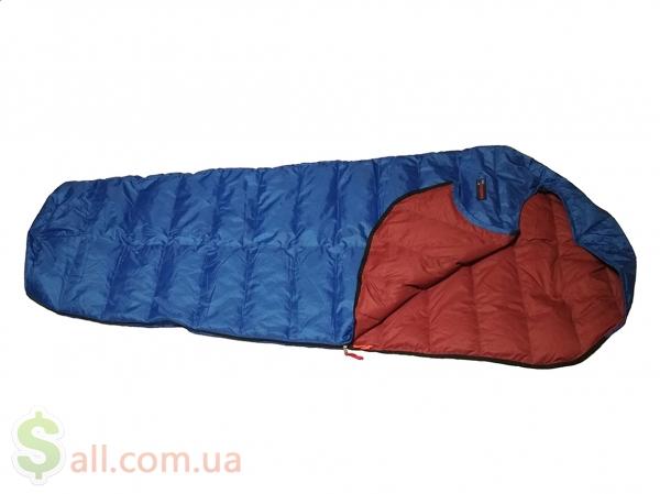 Пуховый спальный мешок кокон облегчённый на рост до 180 см. во Львове