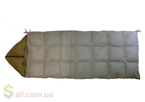 Фото Пуховый спальный мешок одеяло с капюшоном на рост до 166 см.