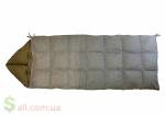 Пуховый спальный мешок одеяло с капюшоном на рост до 166 см.