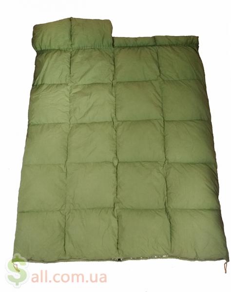 Пуховый спальный мешок одеяло с капюшоном на рост до 175 см. во Львове