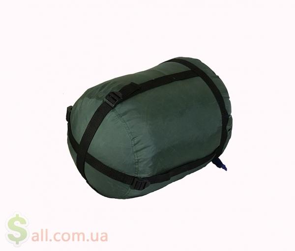 Пуховый спальный мешок одеяло с капюшоном на рост до 175 см. Снаряжение для альпинизма и туризма