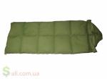 Пуховый спальный мешок одеяло с капюшоном на рост до 175 см.