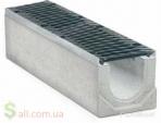 Лоток водоотводный 280Х205Х1000 бетонный с чугунной решеткой