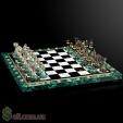 Продаю шахматы из малахита.