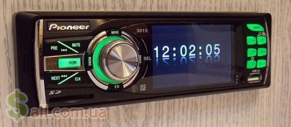 Фото Автомагнитола Pioneer 3015C green (читает видео)